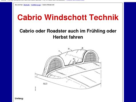 @ Cabrio Windschott Technik.