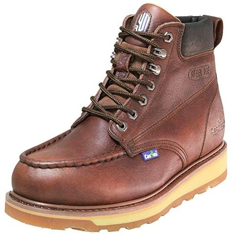 Cactus Men's 6' 627MS Dark Brown Moc/Steel-Toe Boot
