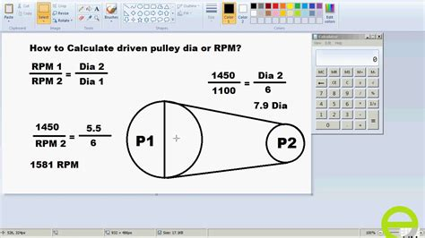 Calculate Rpm Pulley Size