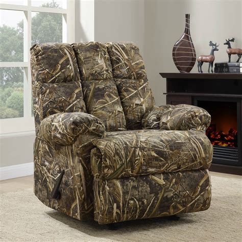 Camo Reclining Lawn Chair
