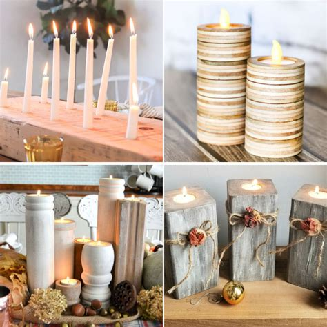 Candle Holder Wood Diy Cupcake