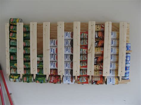 Canned Food Storage Rack Plans