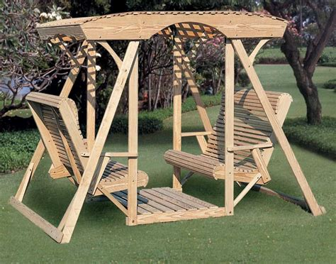 Canopy-Glider-Yard-Face-To-Face-Swing-Plans