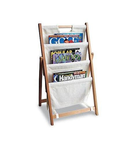 Canvas Folding Magazine Rack