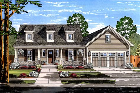 Cape Cod House With Garage Plans