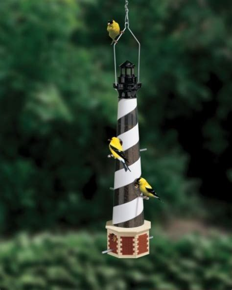 Cape Hatteras Ceramic Lighthouse Bird Feeder