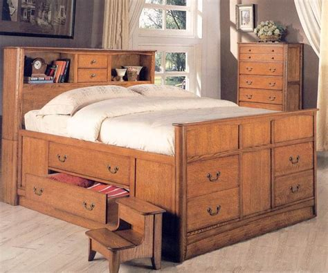 Captains Bed Plans Queen