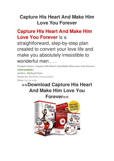 [pdf] Capture His Heart And Make Him Love You Forever.