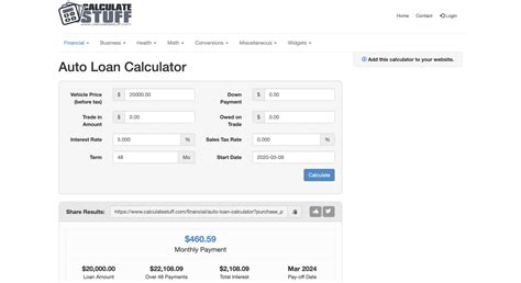 Car Payment Calculator With Interest