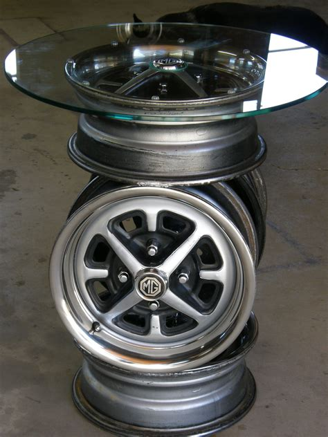 Car Rim Table Diy Hardware