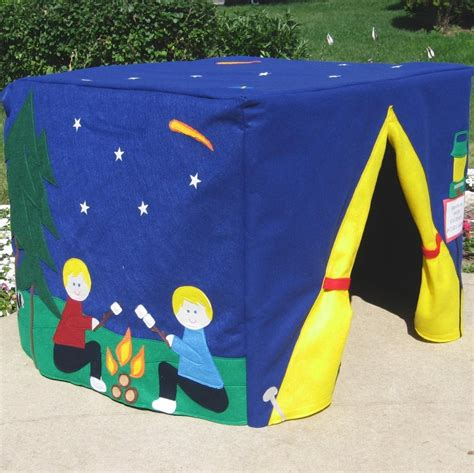Card Table Playhouse Diy On Platform