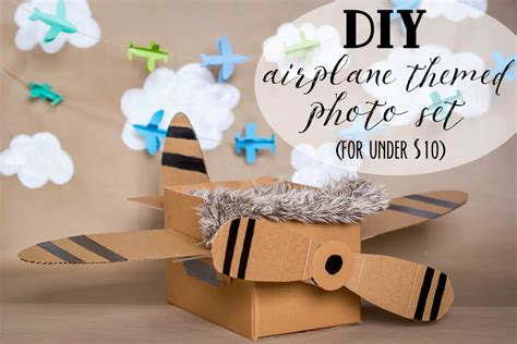 Cardboard Box Airplane Diy Kits