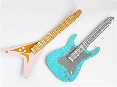 Cardboard Electric Guitar Diy