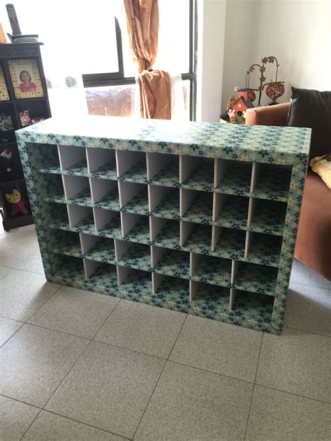 Cardboard Shoe Rack Diy Crates
