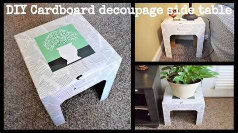 Cardboard Side Table Diy Upgrade