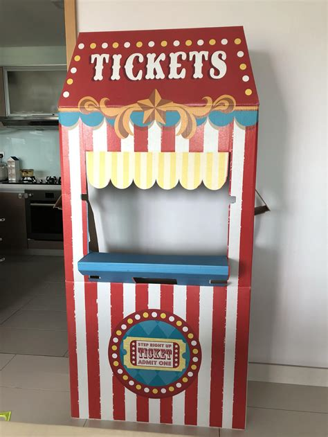 Cardboard Ticket Booth Diy