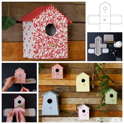 Cardboard-Birdhouse-Diy