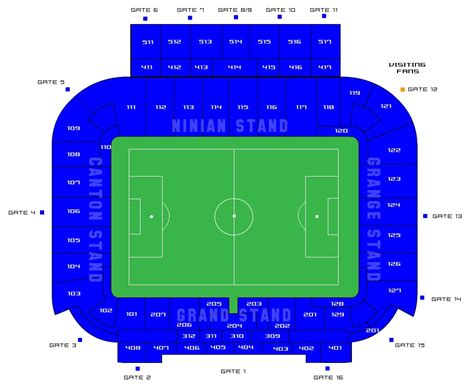 Cardiff City Stadium Seating Plan Ninian Stand
