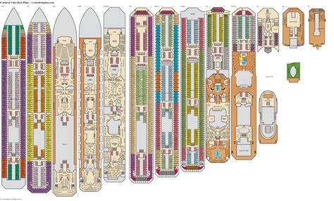 Carnival Cruise Lines Valor Deck Plan