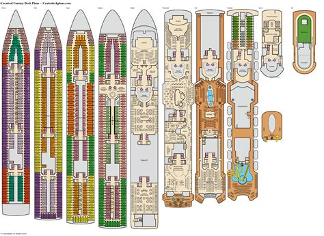 Carnival Deck Plans Fantasy