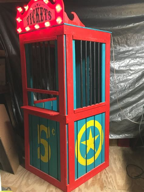 Carnival Ticket Booth Diy Halloween