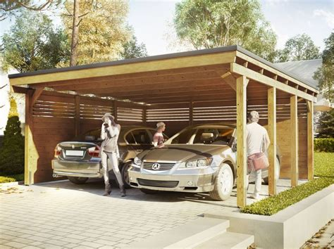 Carport With Shed Attached Plan Se De Color At