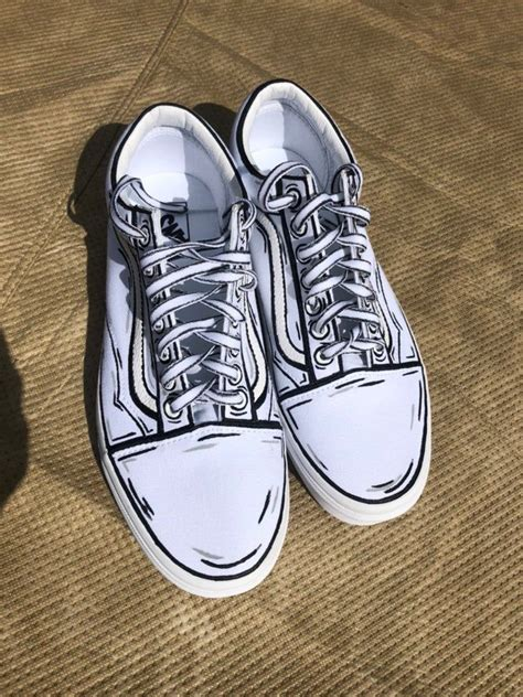 Cartoon Looking Womens Vans Sneakers