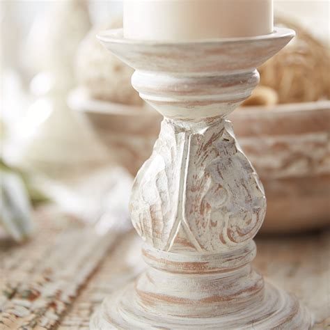 Carved Wood Candle Sconce