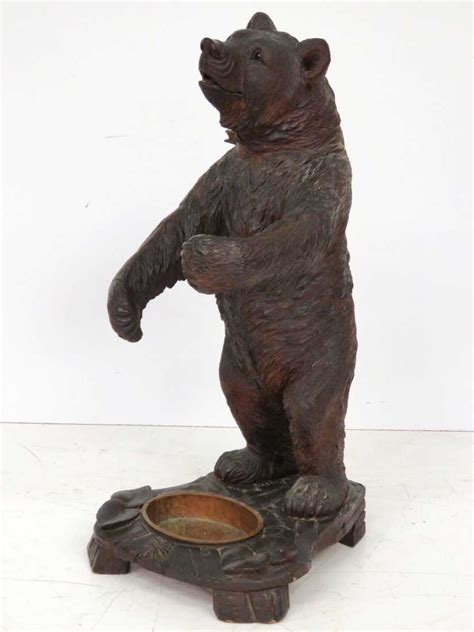 Carved Wooden Bear Umbrella Stand