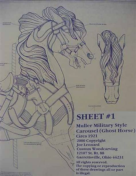 Carving Carousel Horse Plans
