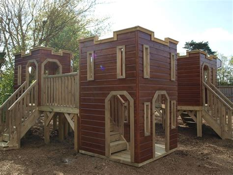 Castle Playhouse Wooden Outdoor Rocking