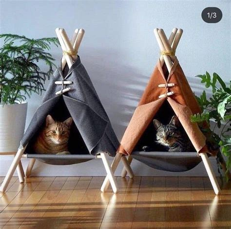 Cat Teepee Bed Diy Rail