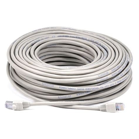 Cat5e 24AWG STP Ethernet Network Patch Cable 100ft Gray