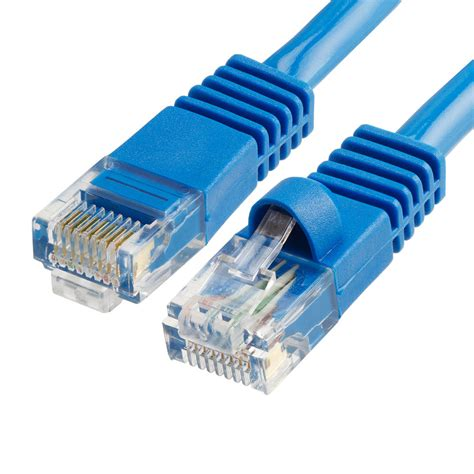 Cat5e Molded RJ45 Network Ethernet Patch Cable - Blue (25 Feet) - 25 PACK