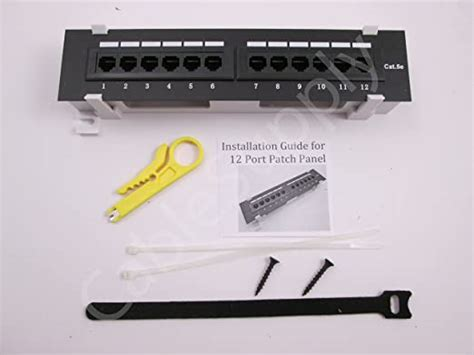 Cat5e Patch Panel by CableSupply.com | 24 Port, RJ45, Rack Mount Patch Panel - includes Hook and Loop Strips, Tie Wraps, Rack Mount Screws