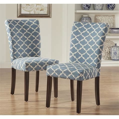 Catherine Moroccan Pattern Fabric Parsons Dining Chair