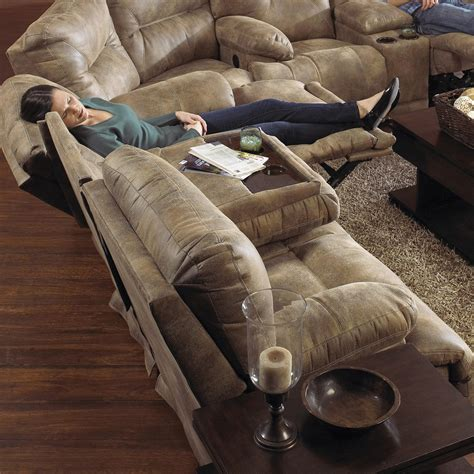 Catnapper 3 Reclining Sofa With Fold Down Console