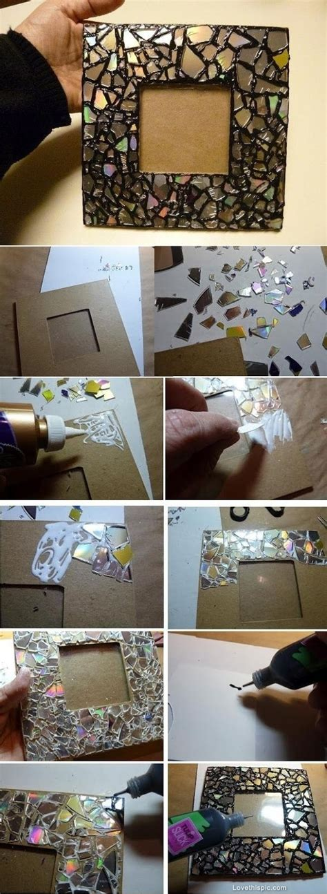 Cd Photo Frame Diy Painting