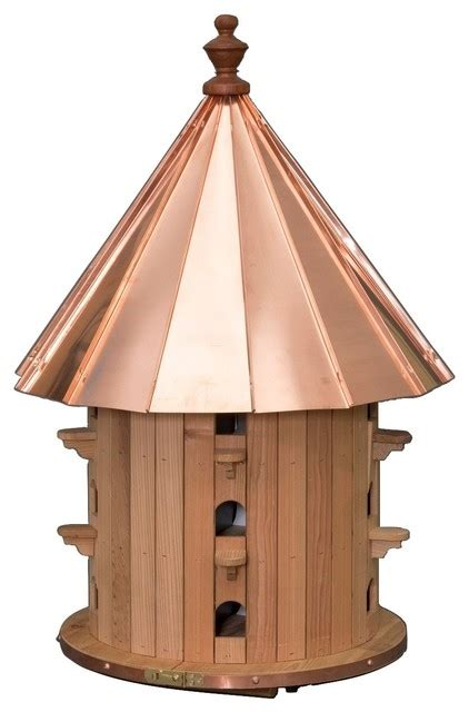 Cedar Birdhouse With Copper Roof