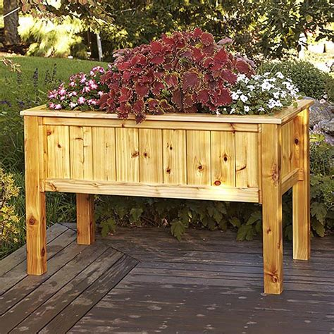 Cedar Elevated Planter Box Plans