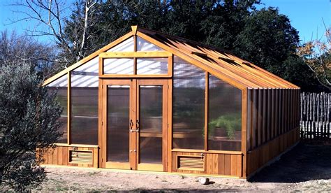 Cedar Frame Greenhouse Plans