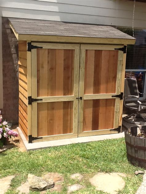 Cedar Lean To Shed Plans