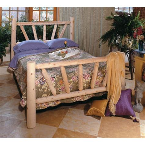 Cedar Log Bed Frame Plans