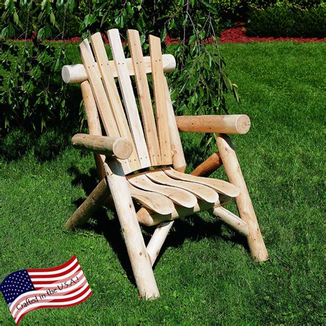 Cedar Log Chair Plans