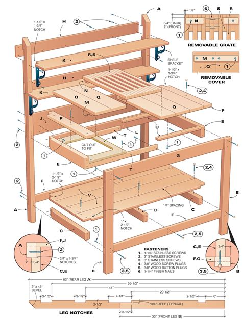 Cedar Potting Bench Plans Free