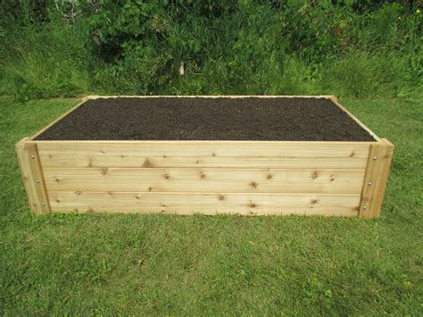 Cedar Raised Garden Bed Layout And Patio