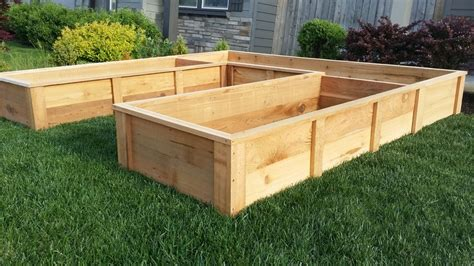 Cedar Raised Garden Bed Plans