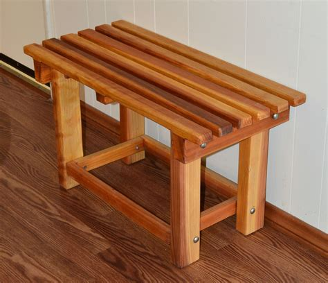 Cedar Shower Bench Plans