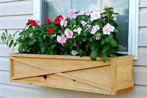 Cedar Window Planter Box Diy