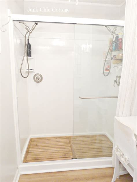 Cedar Wood Planks Shower DIY